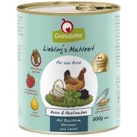 Nassfutter GranataPet Lieblings Mahlzeit Huhn & Pastinaken