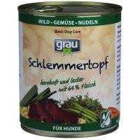 Nassfutter Grau Schlemmer-Topf Wild, Gemüse & Nudeln