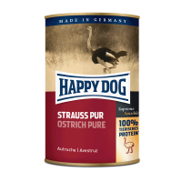 Nassfutter Happy Dog Strauß Pur