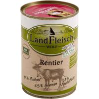 Nassfutter LandFleisch Wolf Rentier